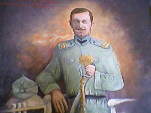 Costică Ciuculeanul - caporal artilerist la Mărăsești (portret Ioan B. după poza originală)