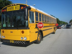 Autobus școlar în trafic, Canada
