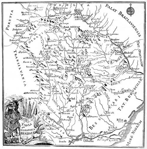 Prima atestare cartografică a satului Bălăbănești(Românești)