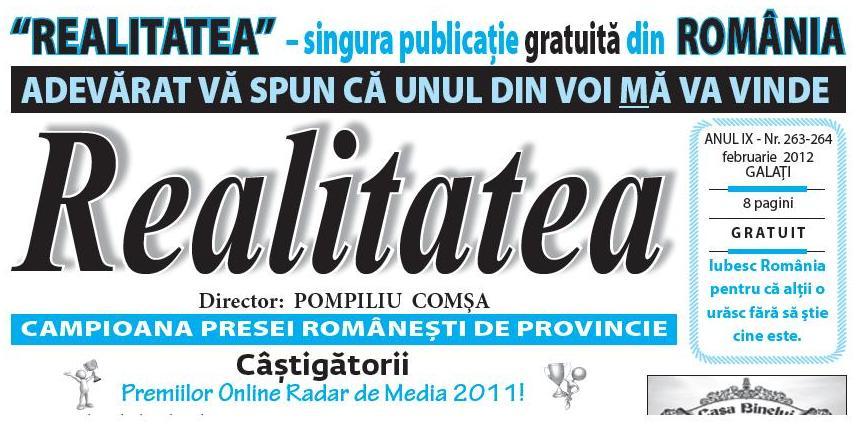 REALITATEA Galaţi – campioana presei românești de provincie!