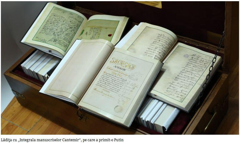 """Cotidianul: Au apărut primele 25 de volume din """"Integrala manuscriselor Cantemir"""""""