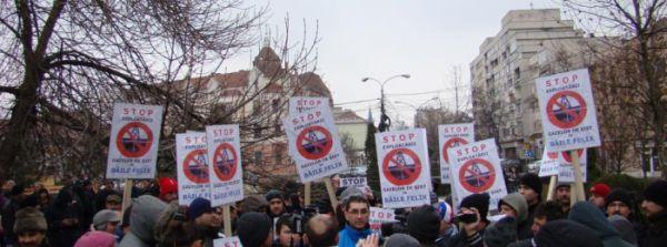Bihorenii au spus NU exploatării gazelor de şist!