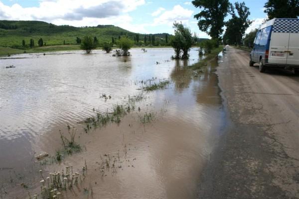 În nordul judeţului Galaţi a plouat de s-au înecat câmpurile – la Bălăbăneşti 120 ha de culturi sunt acoperite de apă