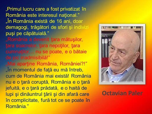 Octavian Paler> Despre România … rânduri de o realitate zguduitoare