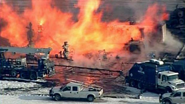 SUA – O nouă sondă de gaz de șist Chevron în flăcări